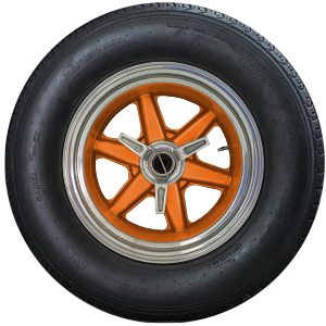 "CAV Ford GT40 replica manufacturer builder factory 15"" brm wheel gulf oil orange"