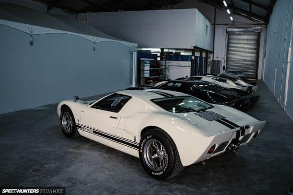 CAV Ford GT40 replica manufacturer builder factory production line