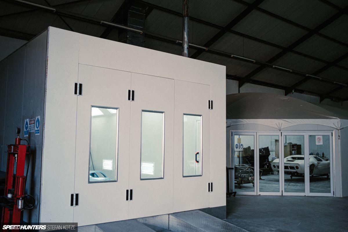 CAV Ford GT40 replica manufacturer builder factory bodyshop spray booth