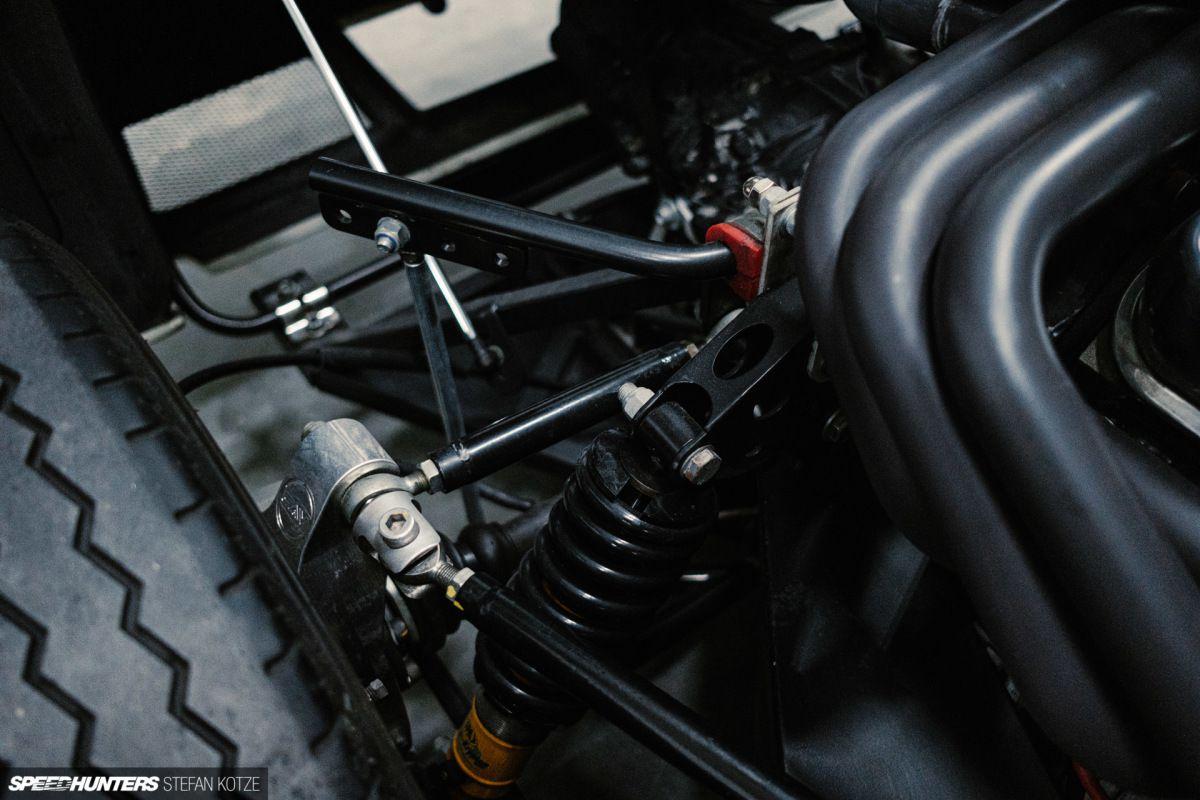 CAV Ford GT40 replica manufacturer builder factory rear suspension closeup