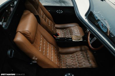 CAV Ford GT40 replica manufacturer builder factory interior brown leather