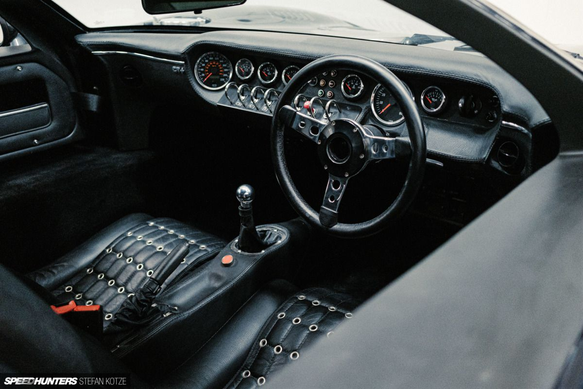 CAV Ford GT40 replica manufacturer builder factory interior black leather