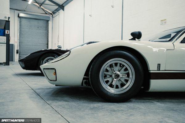 "CAV Ford GT40 replica manufacturer builder factory wimbledon white 15"" halibrand wheel"