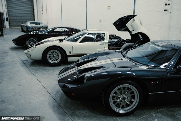 CAV Ford GT40 replica manufacturer builder factory porsche atlas grey wimbledon white