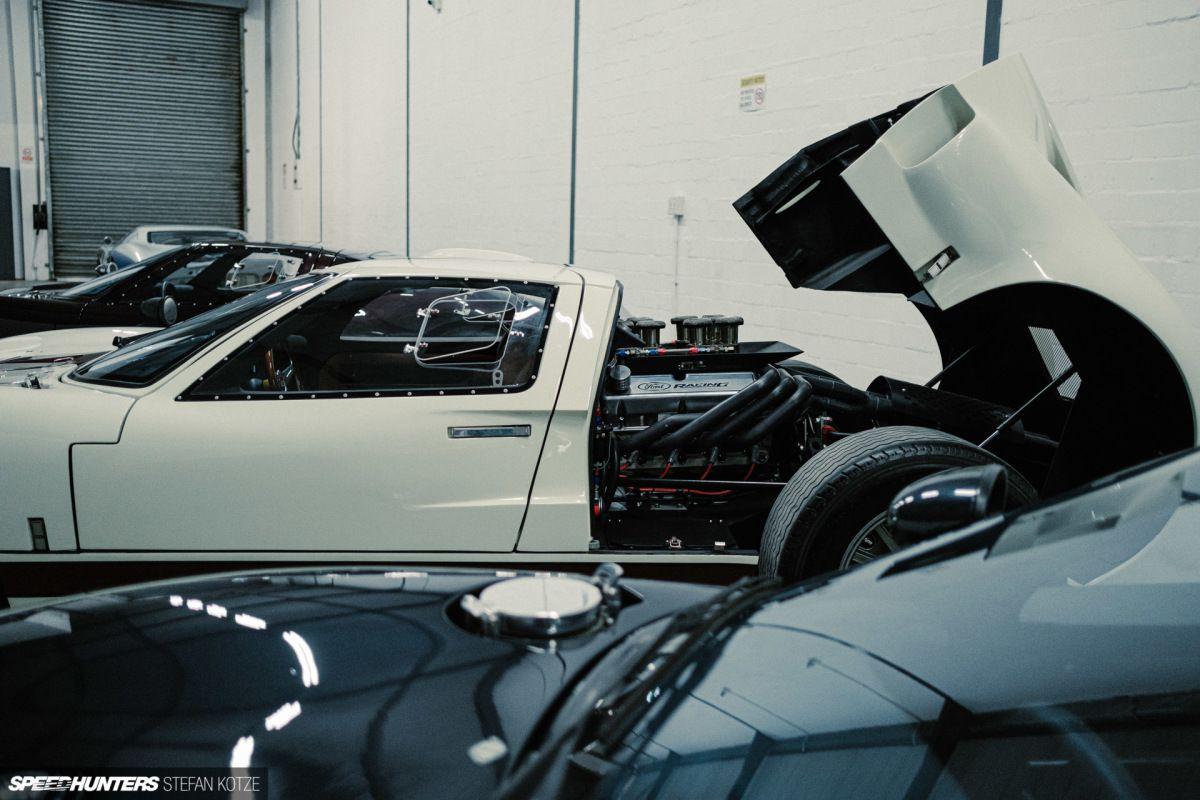 CAV Ford GT40 replica manufacturer builder factory wimbledon white