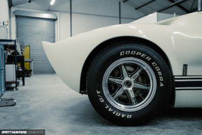 "CAV Ford GT40 replica manufacturer builder factory wimbledone white 15"" halibrand wheel"