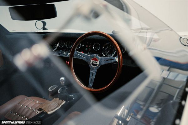 CAV Ford GT40 replica manufacturer builder factory wooden steering wheel