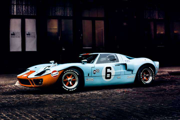 CAV Ford GT40 replica manufacturer builder factory Gulf Oil BRM wheels